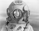 Portrait of man in diving helmet  - 104445099