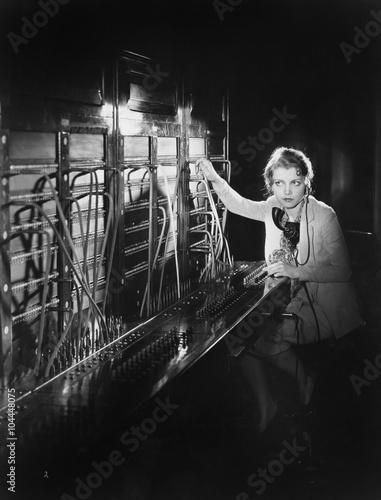 Fotografía  Telephone operator
