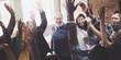 canvas print picture - Business Team Achievement Success Mission Concept