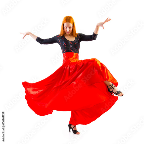 Papiers peints Carnaval Woman traditional dancer wearing red dress