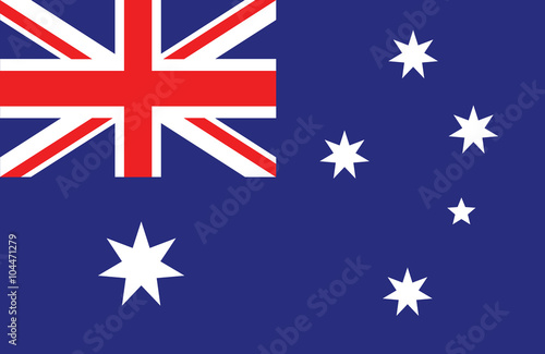 Obraz na plátně Australian flag.