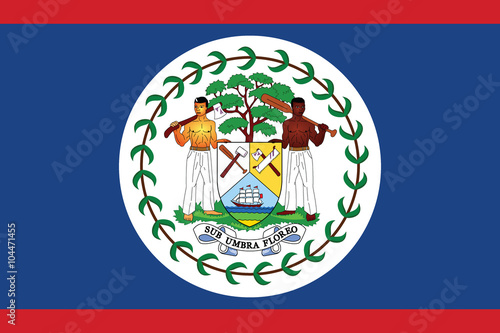 Belize flag. Wallpaper Mural