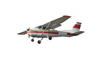 Popular Light Aircraft Isolated On A White Background