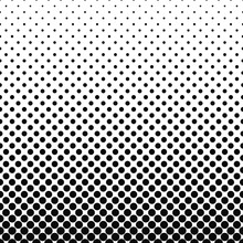 Repeating Black White Abstract Circle Pattern