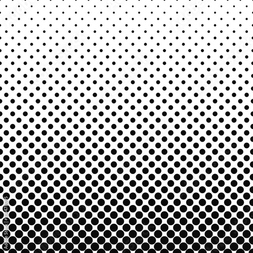 Fotografiet  Repeating black white abstract circle pattern