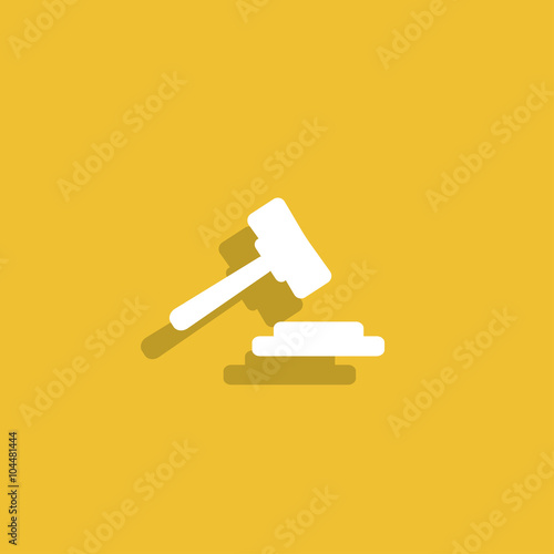 Fototapeta auction web icon. vector design obraz na płótnie