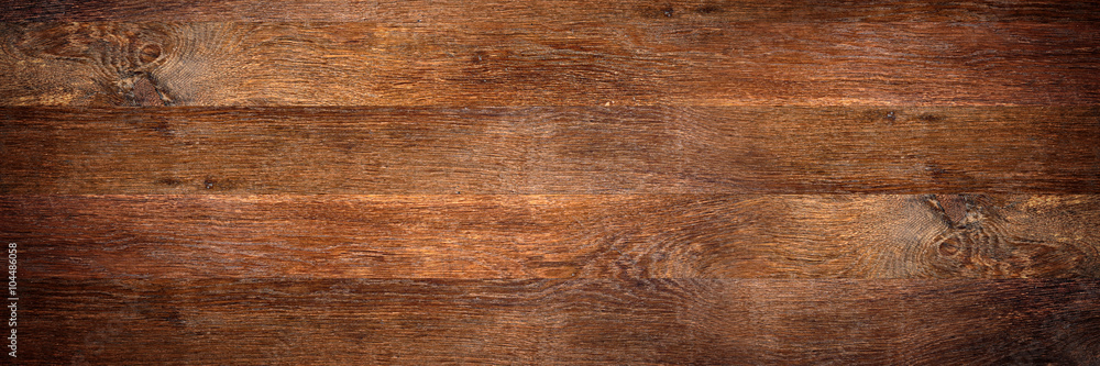 Fototapety, obrazy: wide rustic old oak wooden background