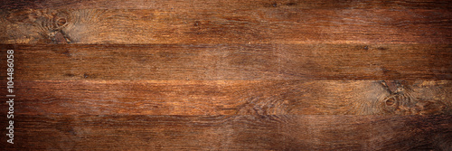 wide rustic old oak wooden background - 104486058