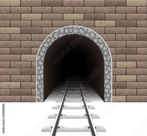 Plakat Ilustracja wektorowa tunelu kolejowego