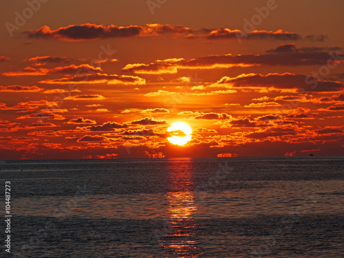 Cuadros en Lienzo Sunrise - maledives