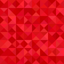 Red Color Triangle Mosaic Vect...
