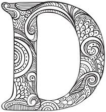 Illustrated Letter D