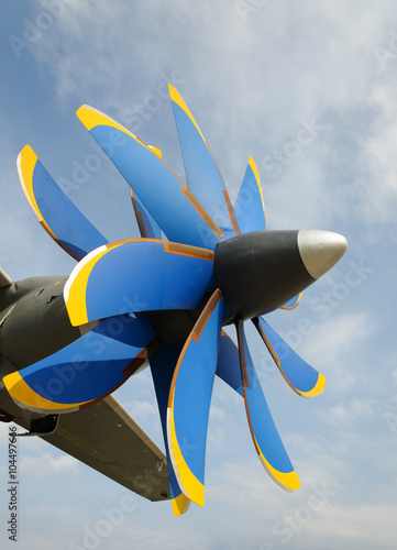 Fotografie, Obraz  Propeller turboprop aircraft