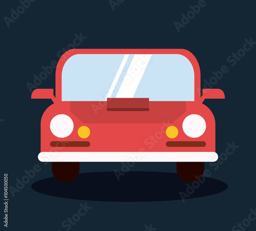 Poster Cars Insurance icon design