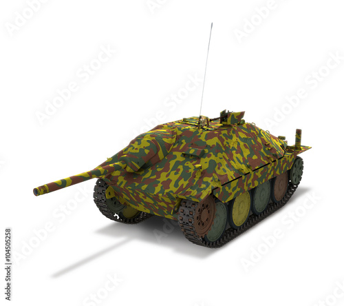 German Tank 'Hetzer' Canvas Print