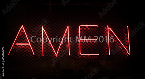 Amen Sign Canvas Print
