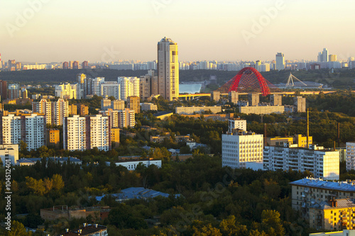 Foto op Canvas Stad gebouw View of Moscow with high-rise buildings