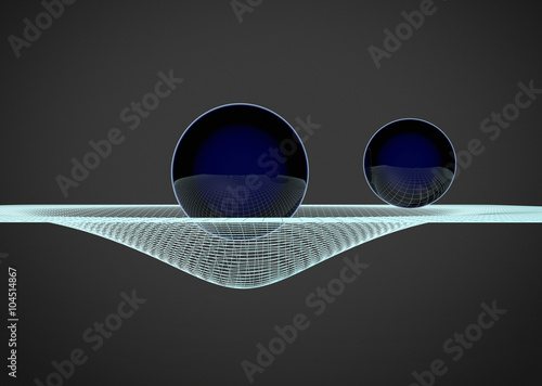 Photo Gravitational Waves illustration