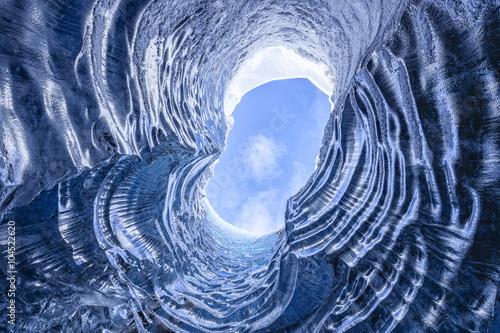 Amazing glacial cave