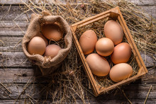 Fresh Brown Eggs