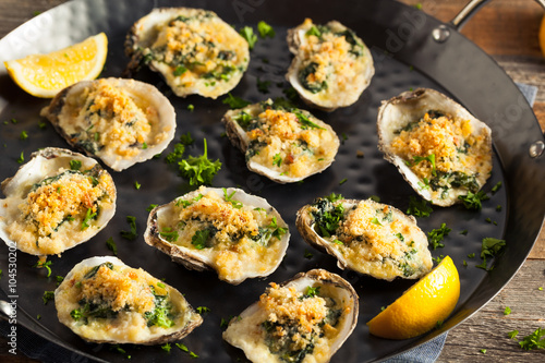 Recess Fitting Seafoods Homemade Creamy Oysters Rockefeller