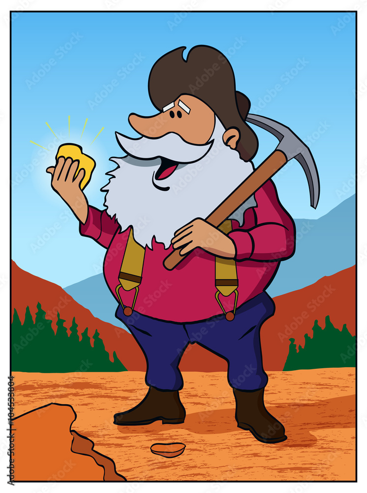 Old Prospector An Old Man Finds Gold Foto Poster Wandbilder Bei