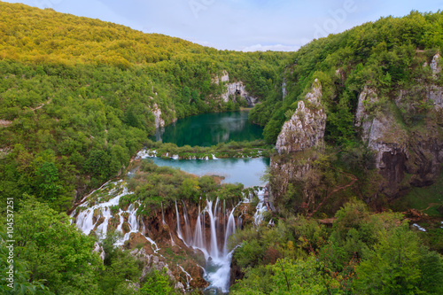 Fototapety, obrazy: Waterfall the Plitvice Lakes