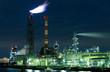 Seaside Industrial Factory at night