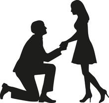 Proposal Man On Knees Asking H...
