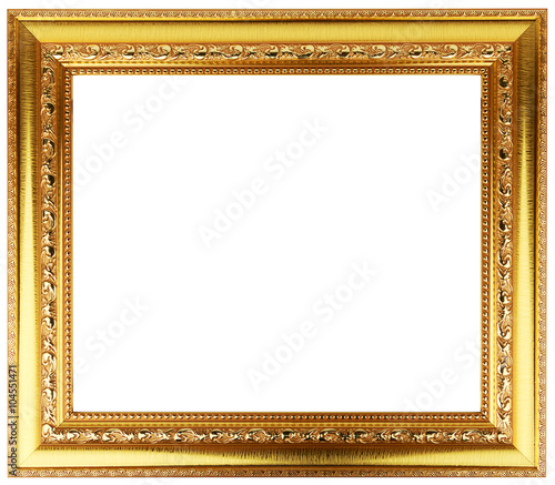 90e5b074759c Gold Vintage Frame Isolated On White Gold Frame Louis Abstract