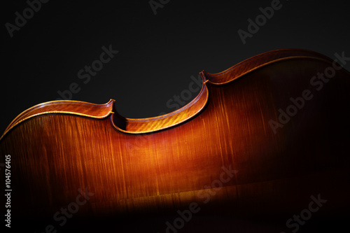 Fototapeta Cello back silhouette