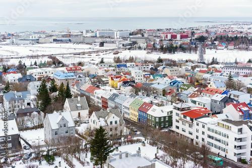 View of Reykjavik Iceland Fototapet