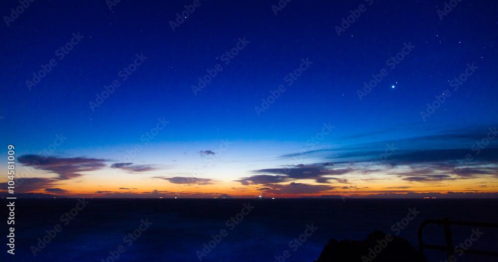 Fototapety, obrazy: 日の出前