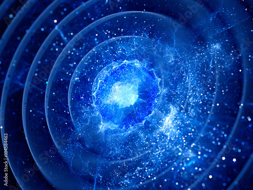 Foto op Plexiglas Abstract wave Gravitaional wave burst in pulsar