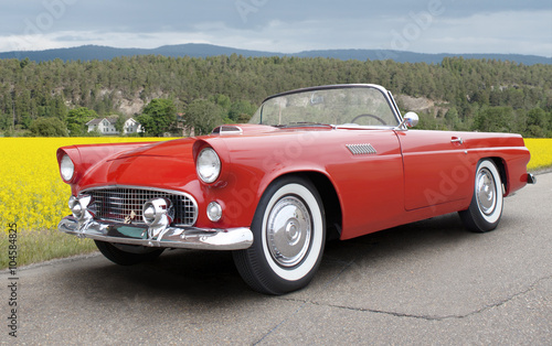 Photo  Ford Thunderbird 1956. All logos removed.
