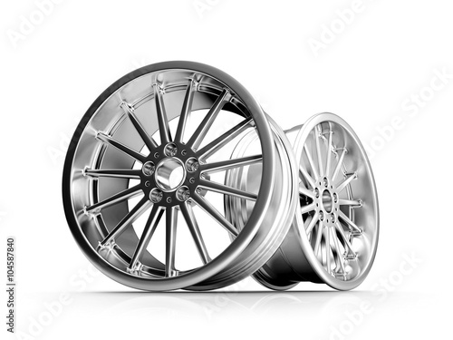 Fotomural  Silver Forged  Alloy  Car RIm