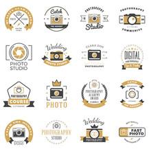 Set Of Photography Logo Design...