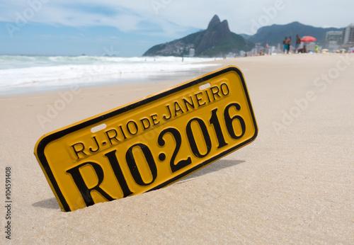 In de dag Rio de Janeiro Rio de Janeiro 2016 Schil am Strand Ipanema
