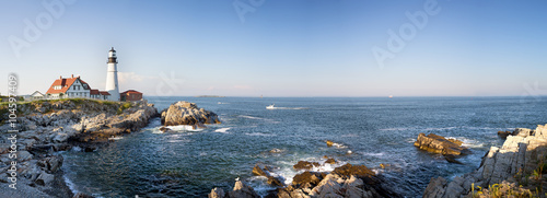 Fototapeta Portland Head Lighthouse panorama obraz