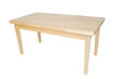 Wooden table on white background