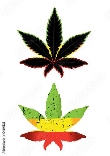 Marijuana Leaf Symbol Vector Illustration Buy This Stock Vector