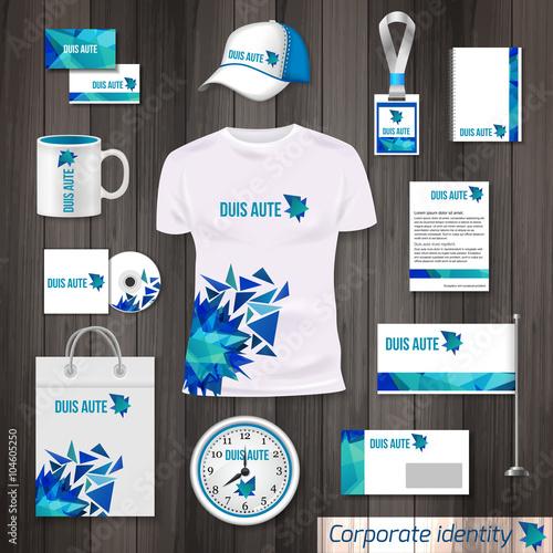 Fotografía  Corporate identity business photorealistic design template