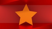 Vietnam Flag Design Concept. 3d Shapes. Image Relative To Travel And Politic Themes