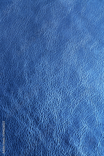 Deurstickers Leder Blue leather texture close up