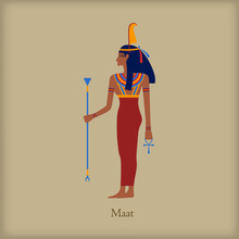 Maat, Goddess Of Justice Icon,...
