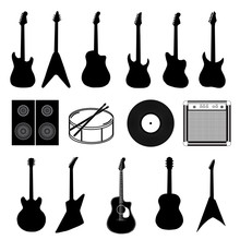 Large Set Of Various Music Ins...