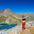 woman summer mountain