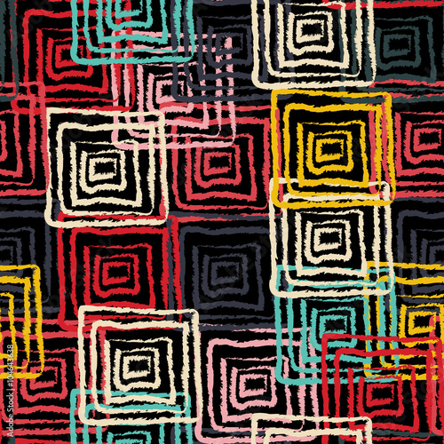 Fototapeta Abstract art grunge seamless pattern