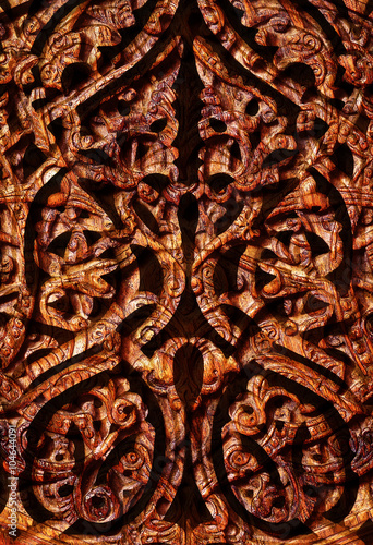 Obraz na płótnie Drewniany ornament