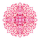 Watercolor mandala. Traditional lace isolated on white background. - 104646409